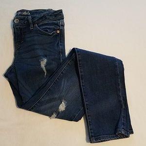 Aeropostale Bayla Skinny Distressed Skinny Jeans 0